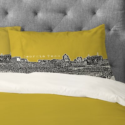 Bird Ave Georgia Tech Pillowcase Size: Standard