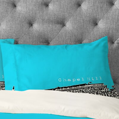 Bird Ave Chapel Hill Pillowcase Color: Blue, Size: King