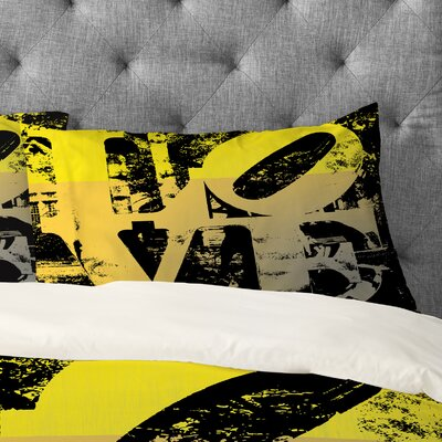 Amy Smith Philadelphia Love Pillowcase Size: King