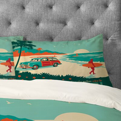 Anderson Design Group Surfs Up Pillowcase Size: King