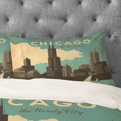Anderson Design Group Chicago Pillowcase Size: Standard