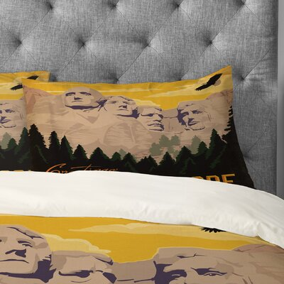 Anderson Design Group Mt Rushmore Pillowcase Size: Standard