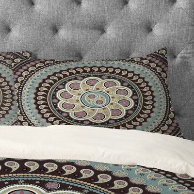 Belle13 Mandala Paisley Pillowcase Size: King
