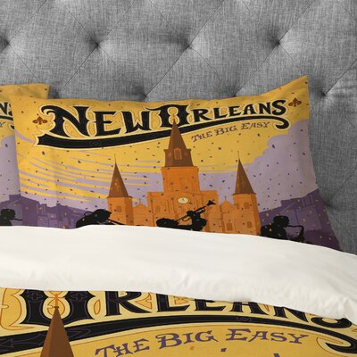 Anderson Design Group New Orleans 1 Pillowcase Size: King