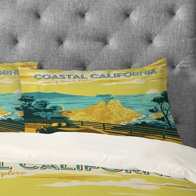 Anderson Design Group Coastal California Pillowcase Size: King
