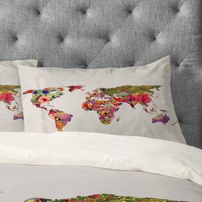 Bianca Green Its Your World Pillowcase Size: King