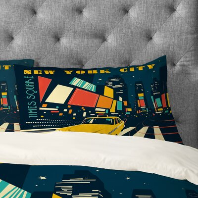 Anderson Design Group NYC Times Square Pillowcase Size: Standard