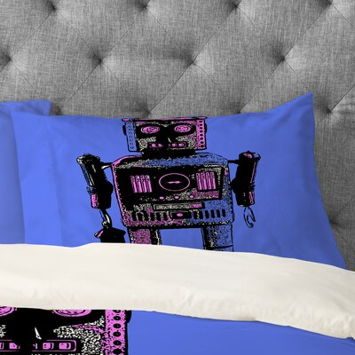 Romi Vega Lantern Robot Pillowcase Size: King