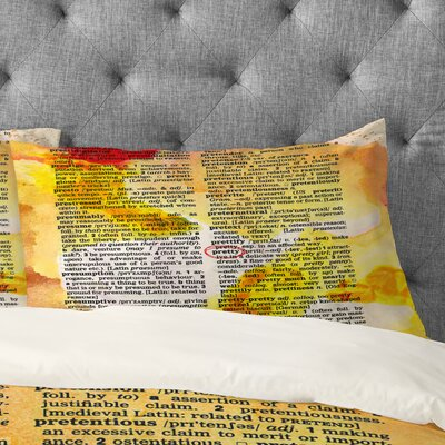 Susanne Kasielke Pretty Dictionary Art Pillowcase Size: Standard