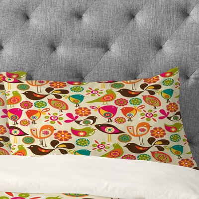 Valentina Ramos Little Birds Pillowcase Size: Standard