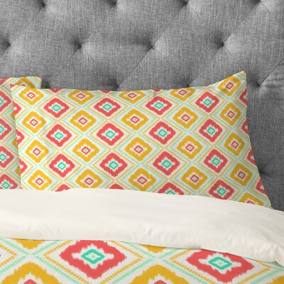 Jacqueline Maldonado Zig Zag Ikat Pillowcase Size: King, Color: White