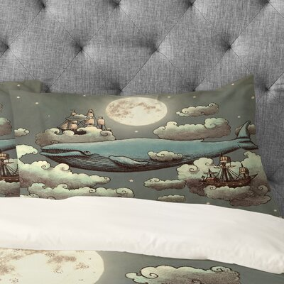 Terry Fan Ocean Meets Sky Pillowcase Size: King