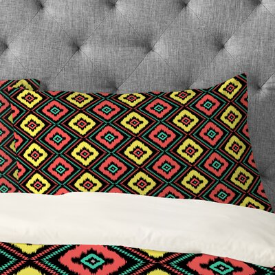 Jacqueline Maldonado Zig Zag Ikat Pillowcase Size: King, Color: Black
