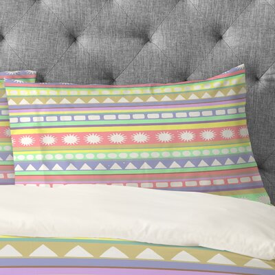 Romi Vega Pastel Pattern Pillowcase Size: King