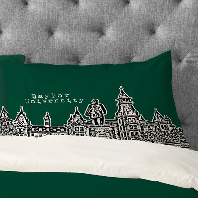 Bird Ave Baylor University Pillowcase Size: Standard