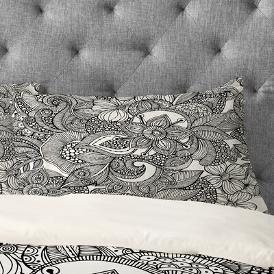 Valentina Ramos Doodles Pillowcase Size: King