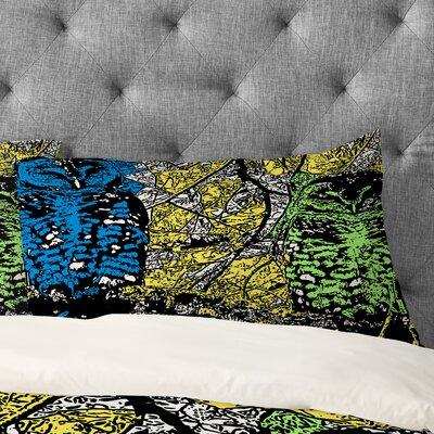Romi Vega Bright Owl Pillowcase Size: King