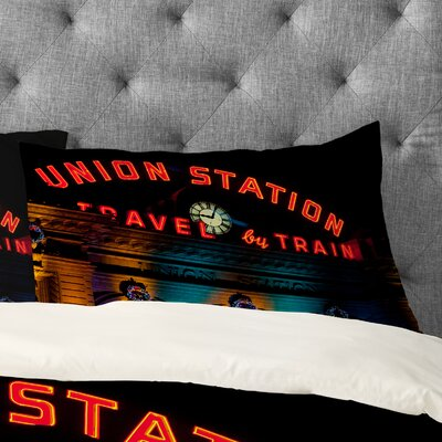 Bird Wanna Whistle Union Station Pillowcase Size: Standard