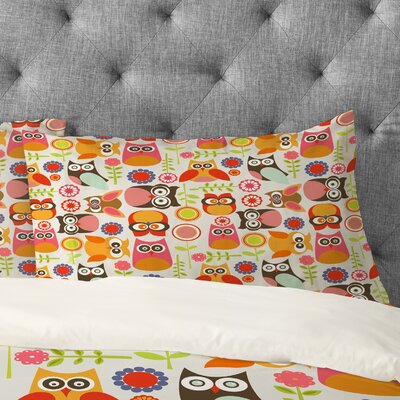 Valentina Ramos Cute Little Owls Pillowcase Size: Standard