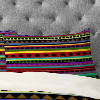 Romi Vega Heavy Pattern Pillowcase Size: King