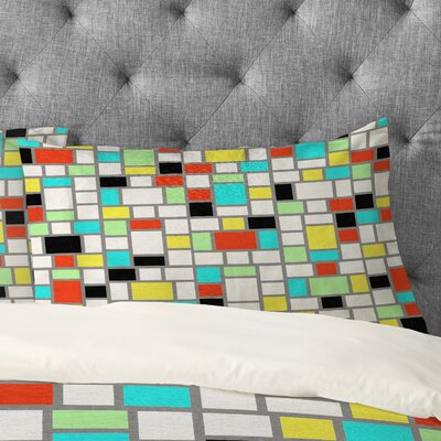 Jacqueline Maldonado Geo Square Pillowcase Size: King