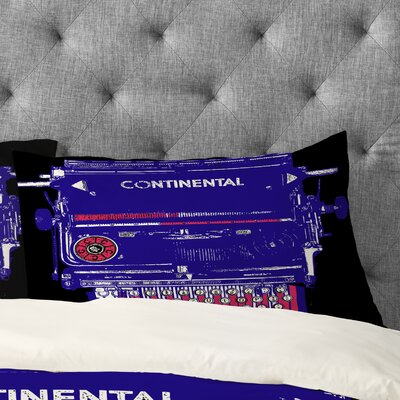 Romi Vega Continental Typewriter Pillowcase Size: King