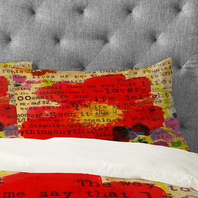 Irena Orlov Poetry 2 Pillowcase Size: King