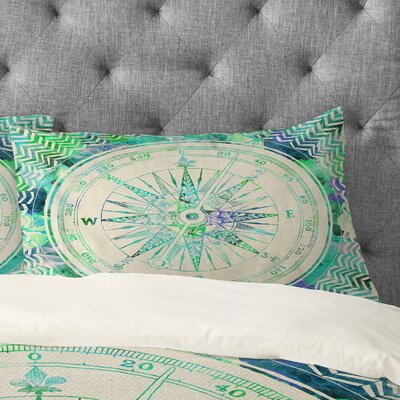 Bianca Green Follow Your Own Path Mint Pillowcase Size: King