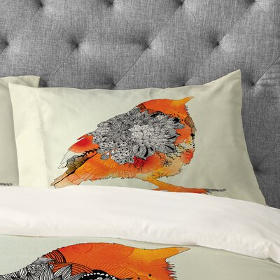 Iveta Abolina Bird Pillow Case Size: King