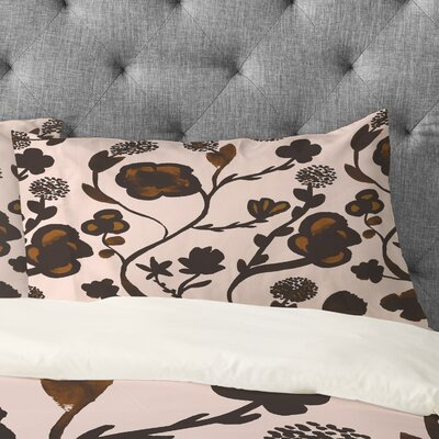 Georgiana Paraschiv Floral II Pillowcase Size: Standard