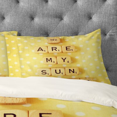 Happee Monkee You Are My Sunshine Pillowcase Size: King