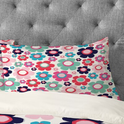Ali Benyon Indigo Flower Pillowcase Size: King