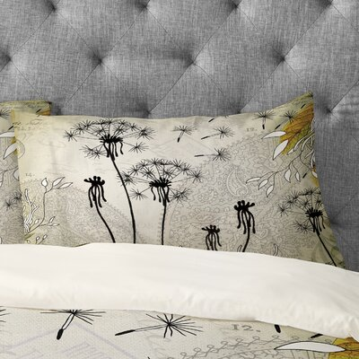 Iveta Abolina Little Dandelion Pillowcase Size: King