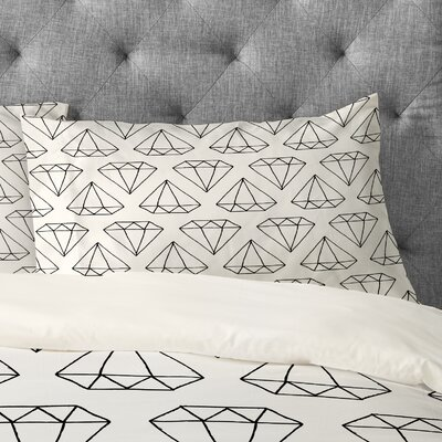 Wesley Bird Diamond Print 2 Pillowcase Size: King