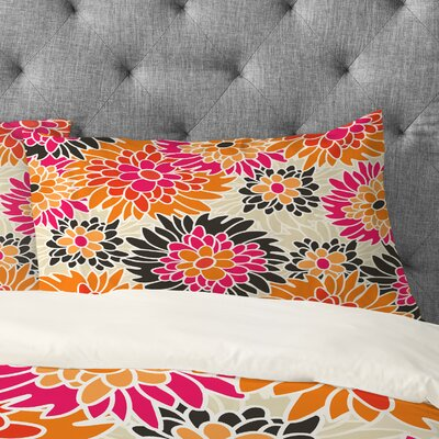 Andrea Victoria Summer Tango Floral Pillowcase Size: King
