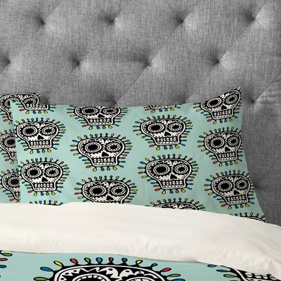 Andi Bird Sugar Skull Fun Pillowcase Size: King