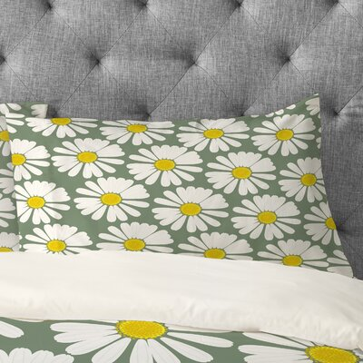 Georgiana Paraschiv Chamomile Pattern Pillowcase Size: King
