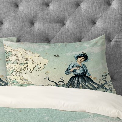 Belle13 Sea Fairy Pillowcase Size: King