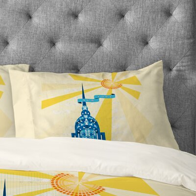 Jennifer Hill New York City Chrysler Building Pillowcase Size: Standard