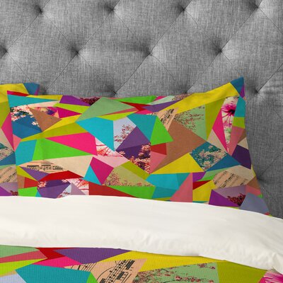 Bianca Green Colorful Thoughts Pillowcase Size: Standard