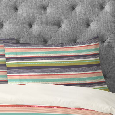 Wendy Kendall Stripe Pillow Case Size: Standard
