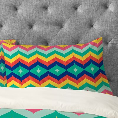 Juliana Curi Chevron 5 Pillowcase Size: King
