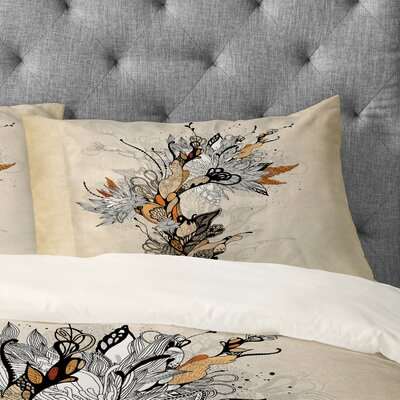 Iveta Abolina Floral 1 Pillowcase Size: King