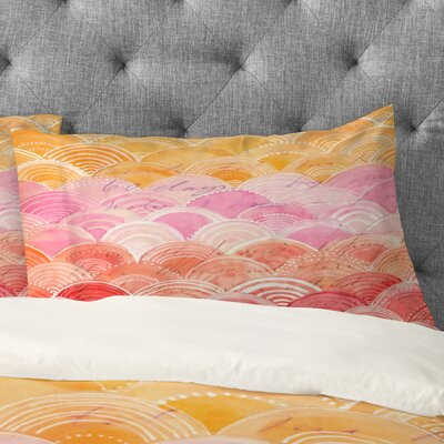 Cori Dantini Warm Spectrum Rainbow Pillowcase Size: King