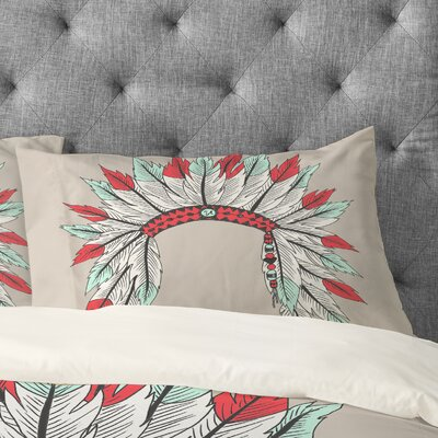 Wesley Bird Dressy Pillowcase Size: King