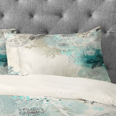 Iveta Abolina Seafoam Pillowcase Size: King