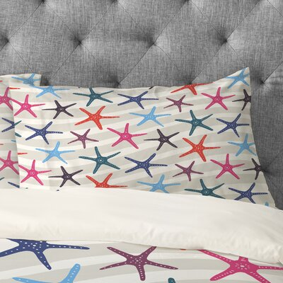 Zoe Wodarz Star Fish Pillowcase Size: King
