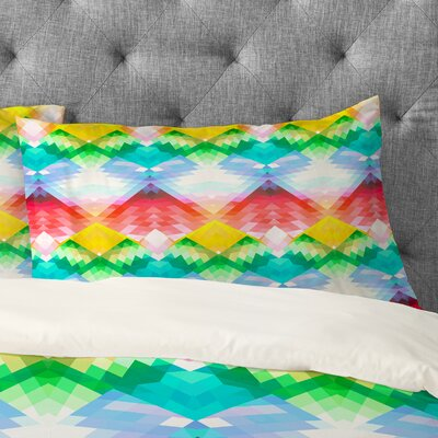 Deniz Ercelebi Crystal Rainbow Pillowcase Size: Standard