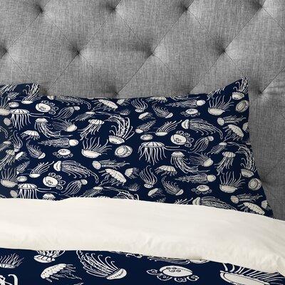 Jennifer Denty Jellyfish Pillowcase Size: Standard