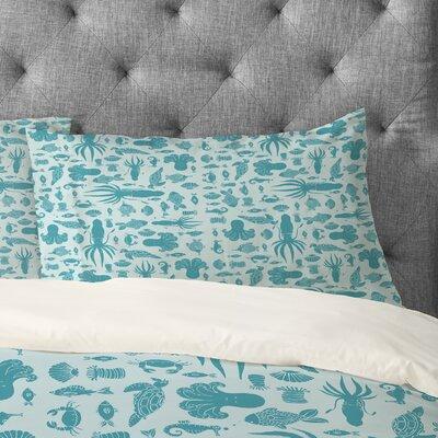 Jennifer Denty Sea Creatures Pillowcase Size: Standard